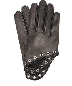 Alexander McQueen | Кожаные Перчатки С Металлическими Люверсами