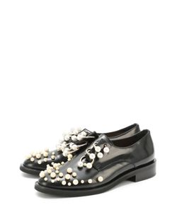 Coliac | Кожаные Ботинки С Жемчужинами И Полукольцами