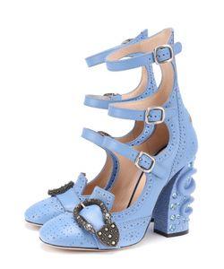 Gucci | Кожаные Туфли Iowa На Декорированном Каблуке