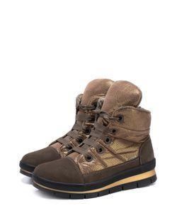 Jog Dog | Комбинированные Утепленные Ботинки На Шнуровке