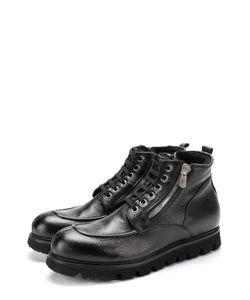 Rocco P. | Кожаные Ботинки На Шнуровке С Молнией Rocco P.