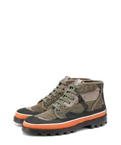 Valentino | Ботинки Camouflage Из Текстиля С Принтом