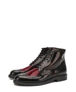 Robert Clergerie | Высокие Кожаные Ботинки На Шнуровке С Брогированием