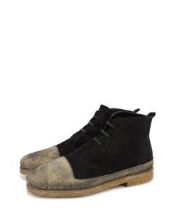Rocco P. | Высокие Замшевые Ботинки На Шнуровке С Внутренней Меховой Отделкой Rocco P.
