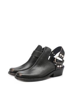 Balenciaga | Кожаные Ботинки С Открытым Задником И Ремешком