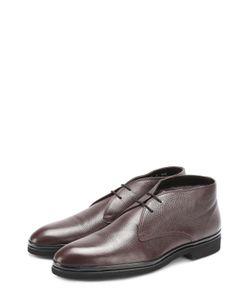 Aldo Brue | Кожаные Ботинки На Шнуровке С Внутренней Меховой Отделкой