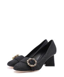 Dolce & Gabbana | Парчовые Туфли На Фигурном Каблуке