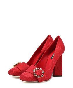 Dolce & Gabbana | Туфли Jackie С Вышивкой На Геометричном Каблуке