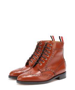 Thom Browne | Кожаные Ботинки С Брогированием