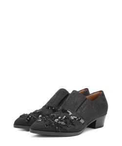 Dries Van Noten | Текстильные Ботинки С Вышивкой Пайетками