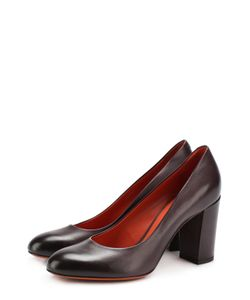 Santoni | Кожаные Туфли На Устойчивом Каблуке