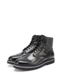 W.Gibbs | Высокие Кожаные Ботинки На Шнуровке С Брогированием