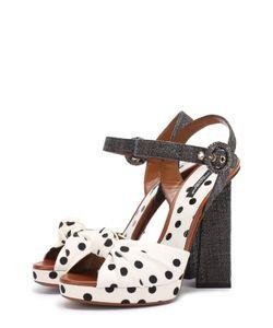 Dolce & Gabbana | Текстильные Босоножки Keira На Фигурном Каблуке