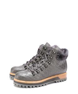 Le Silla | Кожаные Стеганые Ботинки С Заклепками