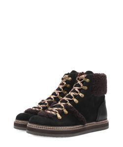 See By Chloe | Комбинированные Ботинки С Меховой Отделкой