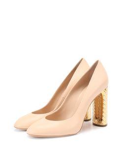 Casadei | Кожаные Туфли На Декорированном Каблуке