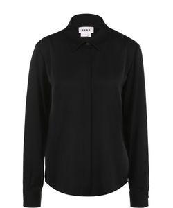 DKNY   Шелковая Блуза Прямого Кроя