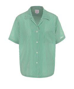 Stella Jean | Шелковая Блуза В Полоску С Коротким Рукавом