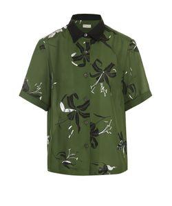 Dries Van Noten | Шелковая Блуза С Коротким Рукавом И Принтом