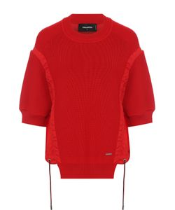 Dsquared2 | Пуловер С Круглым Вырезом И Укороченным Рукавом