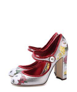 Dolce & Gabbana | Туфли Vally Из Металлизированной Кожи С Принтом