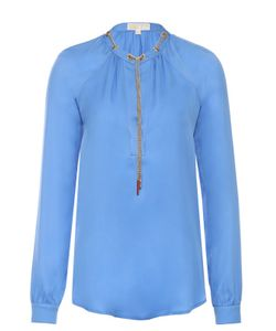Michael Michael Kors | Шелковая Блуза С Декоративной Отделкой