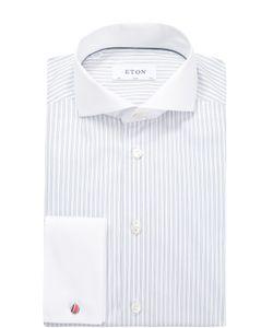 Eton | Хлопковая Приталенная Сорочка С Воротником Акула