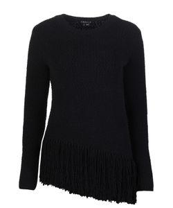 Theory | Шерстяной Пуловер С Асимметричным Низом И Бахромой