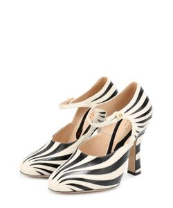 Gucci | Кожаные Туфли Lesley На Фигурном Каблуке