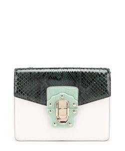 Dolce & Gabbana   Сумка Lucia С Отделкой Из Кожи Питона И Каймана Dolce