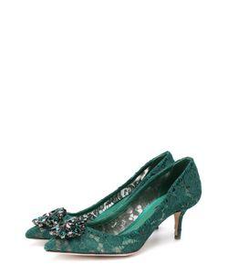 Dolce & Gabbana | Кружевные Туфли Rainbow Lace С Брошью