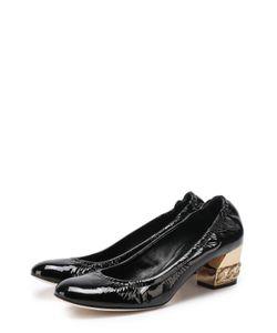 Casadei | Лаковые Туфли На Низком Каблуке С Декором