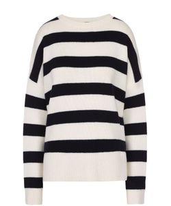 Theory | Кашемировый Пуловер Прямого Кроя В Контрастную Полоску