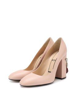 No. 21 | Кожаные Туфли На Каблуке С Декором