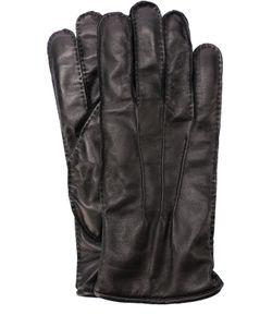 Pal Zileri   Кожаные Перчатки С Подкладкой Из Смеси Шерсти И Кашемира