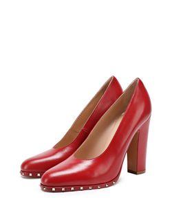Valentino | Кожаные Туфли Soul Rockstud На Устойчивом Каблуке