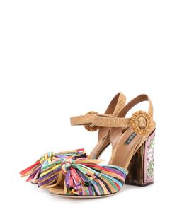 Dolce & Gabbana | Босоножки Keira С Бахромой И Кристаллами