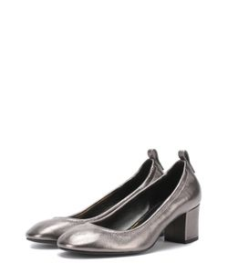 Lanvin | Туфли Из Металлизированной Кожи На Устойчивом Каблуке
