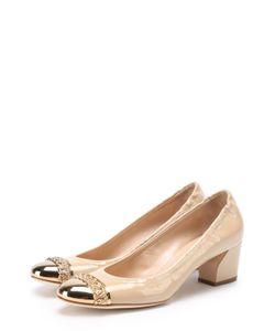 Casadei | Лаковые Туфли С Металлической Вставкой На Мысе