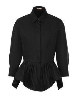 Alaïa | Шерстяная Блуза С Баской И Укороченным Рукавом