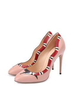 Gucci | Кожаные Туфли Yoko На Шпильке