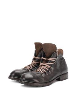 Moma | Высокие Кожаные Ботинки На Шнуровке