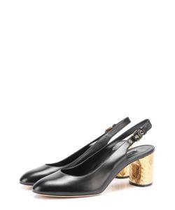 Casadei | Кожаные Туфли На Каблуке С Декором
