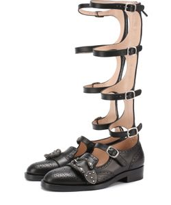 Gucci | Кожаные Ботинки-Гладиаторы Iowa
