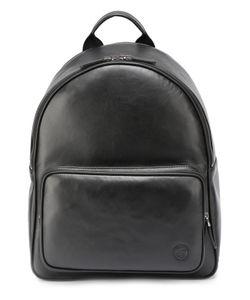 Giorgio Armani | Кожаный Рюкзак С Внешним Карманом На Молнии