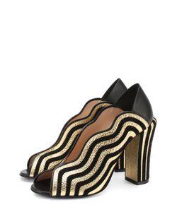 Fendi | Комбинированные Туфли С Фигурными Вырезами