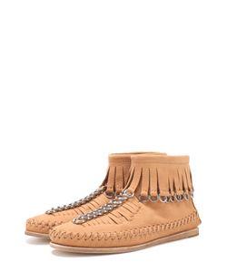 Alexander Wang | Кожаные Ботинки С Бахромой И Подвесками