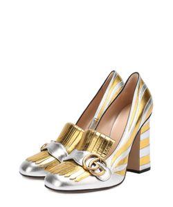 Gucci | Туфли Marmont Из Металлизированной Кожи С Пряжкой