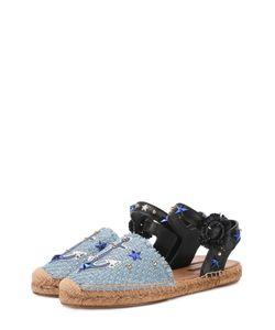 Dolce & Gabbana | Плетеные Эспадрильи С Аппликациями И Заклепками