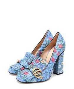 Gucci | Кожаные Туфли Marmont С Принтом